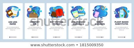 Eco estilo de vida aplicativo interface modelo saudável Foto stock © RAStudio