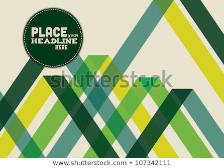 zielone · migotać · promienie · efekt · przezroczystość · streszczenie - zdjęcia stock © orson