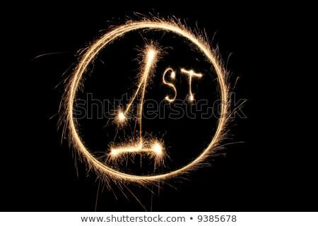 первый бенгальский огонь кольца дизайна фон Сток-фото © Paha_L