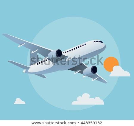 vuelo · avión · blanco · despegue · tecnología · espacio - foto stock © hermione