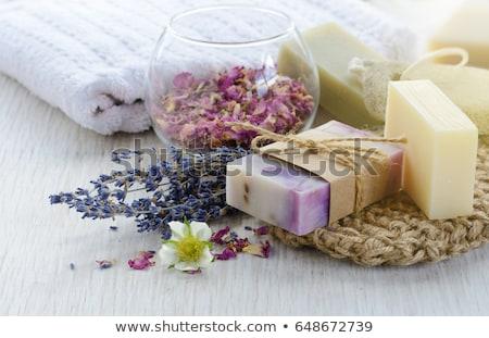 ストックフォト: ハンドメイド · 石鹸 · 新鮮な · 花 · 美 · バー