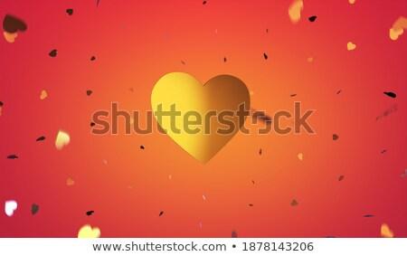 be my lover in golden heart stock photo © marinini