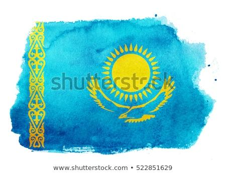 Гранж флаг Казахстан старые Vintage гранж текстур Сток-фото © HypnoCreative