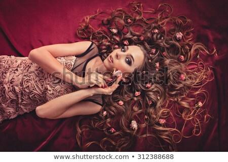 Muse glamour ragazza moda capelli salute Foto d'archivio © artjazz