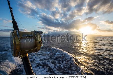 Sport vissen visser boot water oog Stockfoto © stevemc