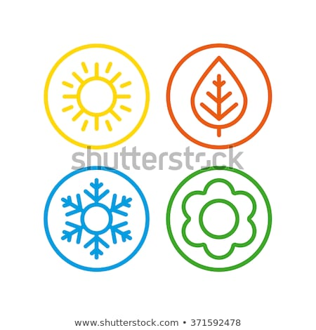 季節 アイコン カラフル 四季 抽象的な 花 ストックフォト © cidepix