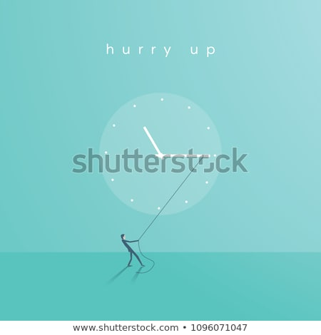 businessman pulling a face with clock Stock photo © photography33