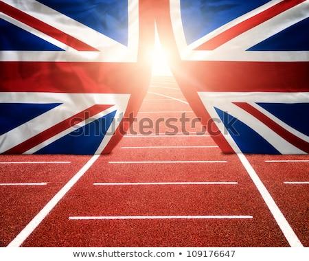 London 2012 zászló brit szövetség ódivatú stílus Stock fotó © nicemonkey