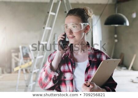 работник · работу · Живопись · щетка · профессиональных - Сток-фото © photography33