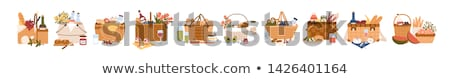 Baskets with colorful bouquets  Stock photo © photosil