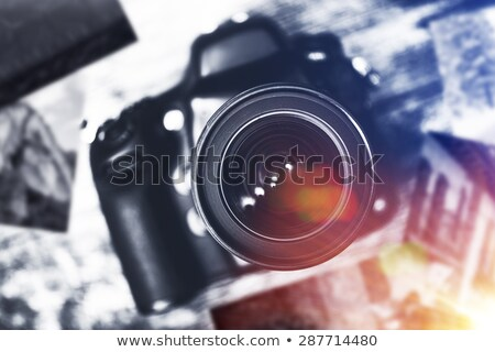 the sides of a professional digital camera Stock photo © feedough