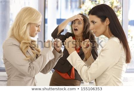 блондинка деловая женщина бокса коллега девушки рук Сток-фото © photography33