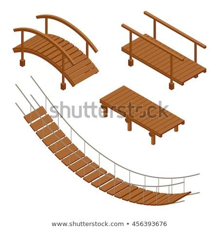 Wooden bridge walkway Stock photo © njnightsky
