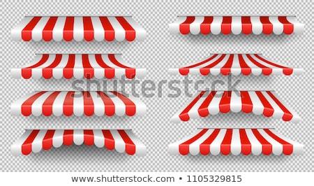 piros · ajtó · háttér · ablak · keret · étterem - stock fotó © experimental