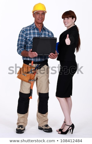 Portrait of an optimistic tradesman and engineer Stock photo © photography33