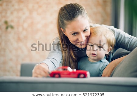 mother and child playing with toy cars stock photo © photography33