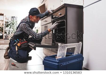 Cihaz bilgisayar adam vücut gömlek Stok fotoğraf © photography33