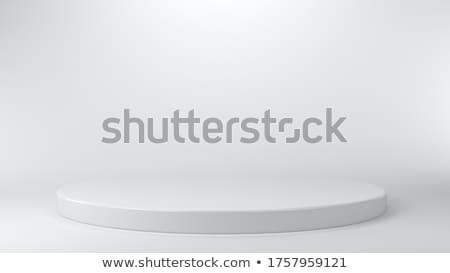Konzerv pódium fehér zöld fű kék ég űr Stock fotó © ssuaphoto