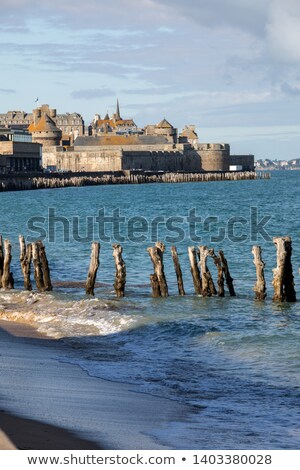 Fort National, Saint Malo, Brittany, France Stock photo © neirfy