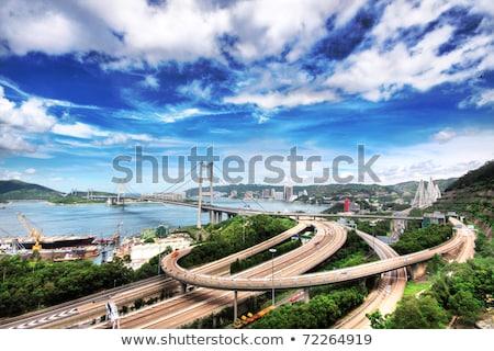 Stok fotoğraf: Highway Bridge In Hongkong At Day