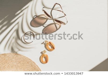 Barna karkötő izolált fehér szexi modell Stock fotó © ruzanna
