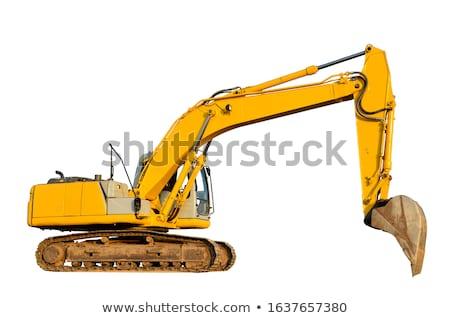 hydraulisch · bulldozer · machines · geïsoleerd · witte · exemplaar · ruimte - stockfoto © witthaya