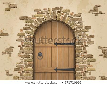 grande · velho · porta · arquitetônico · elemento - foto stock © samsem