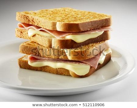 Geroosterd brood spek omhoog Stockfoto © fanfo