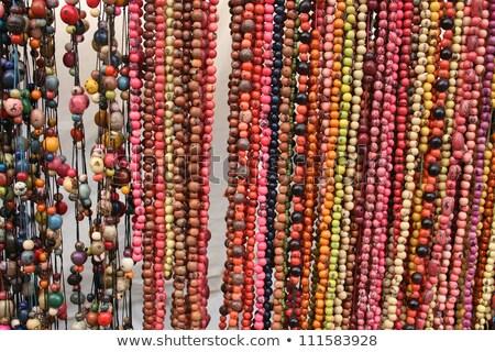 Kralen markt kleurrijk moer uitverkocht outdoor Stockfoto © rhamm