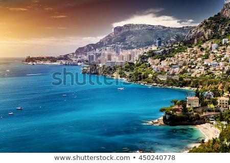 jacht · portu · niebieski · charakter · scena · rząd - zdjęcia stock © kyolshin