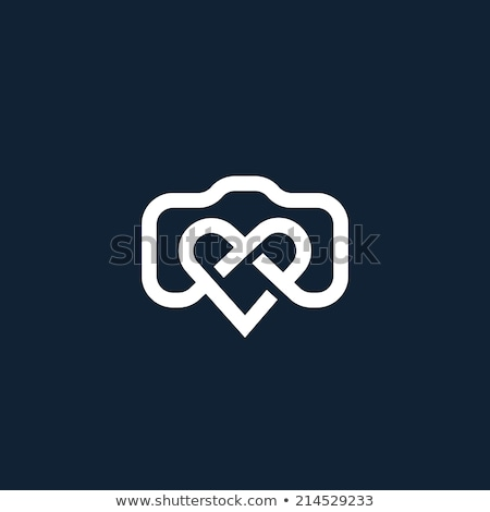 Heart shaped logo for photographers stock photo © shawlinmohd