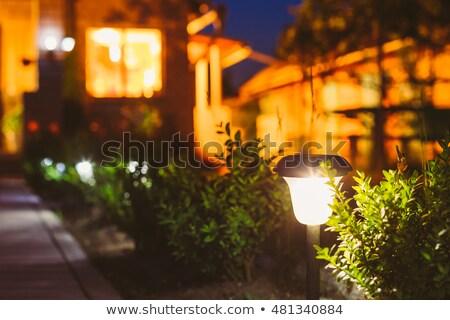 電源 ランプ 花壇 屋外 写真 電気 ストックフォト © tab62