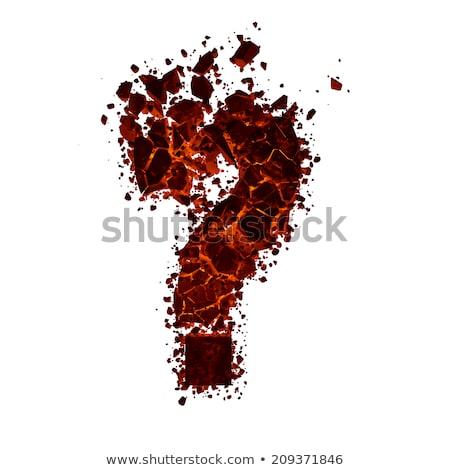 cuestión · símbolo · ardor · fuego · diseno · signo - foto stock © Fernando_Cortes