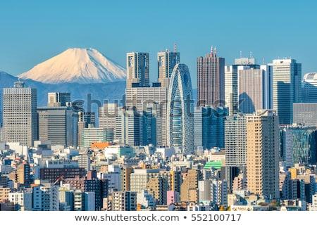 Tokió sziluett város terv híd fekete Stock fotó © compuinfoto