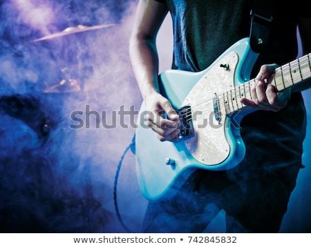 kő · koncert · férfiak · jókedv · hang · fiatalság - stock fotó © stokkete