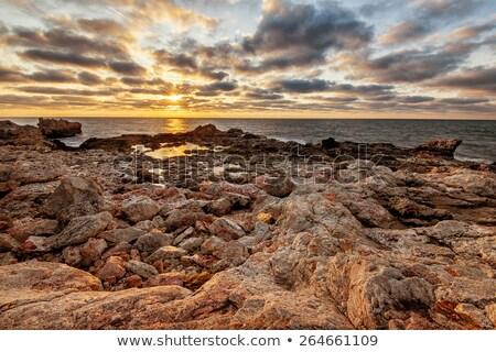 sahil · akşam · pastoral · plaj · su · deniz - stok fotoğraf © smithore