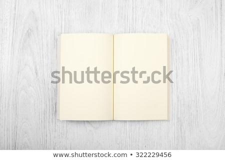 открытой книгой палуба копия пространства книга дизайна Сток-фото © ra2studio