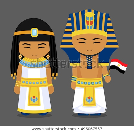 pharaoh wearing a egyptian costume. Stock photo © stepstock