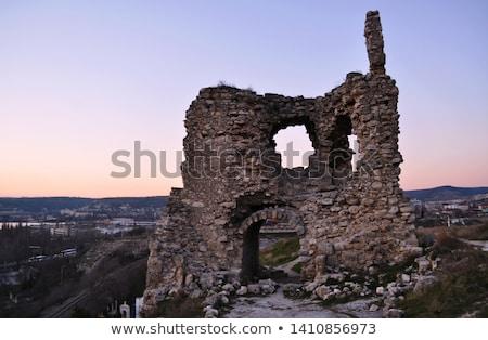 ősi torony romok kék ég égbolt fal Stock fotó © vadimmmus