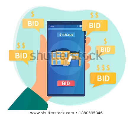 Bid On Screen Shows Bidding Bidder Or Auction  Stock photo © stuartmiles