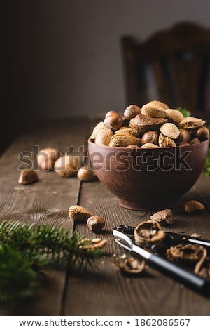 Nuts On Wood Stock photo © cosma