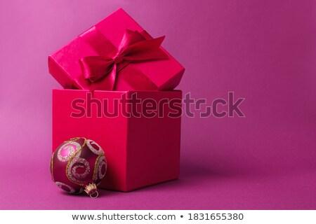 Pink shiny Christmastime decor Stock photo © Anna_Om