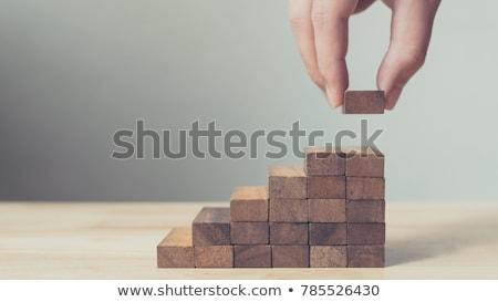 Construire tas coloré cubes texte 3d illustration Photo stock © make