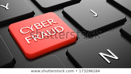 Cyber Fraud on Red Keyboard Button. Stock photo © tashatuvango