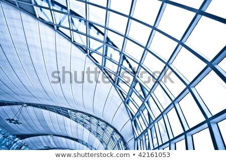 modern · nézőpont · üveg · tető · folyosó · futurisztikus - stock fotó © imaster