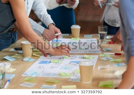 Vizyon grup iş soyut eğitim imzalamak Stok fotoğraf © burakowski