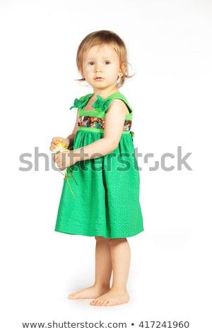 Criança verde roupa isolado branco Foto stock © gewoldi