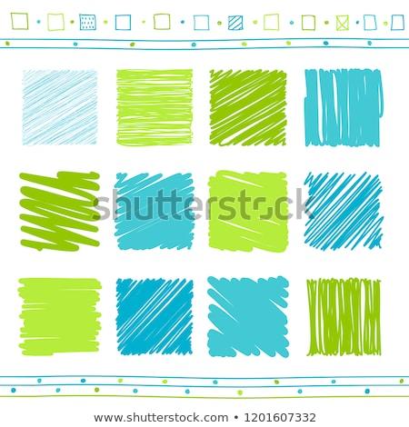 Stock photo: Series of blue pencil strokes