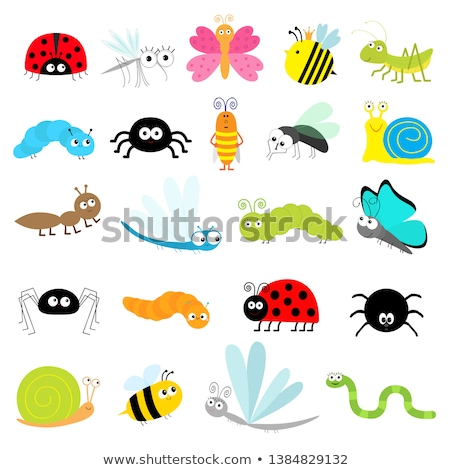 Stock photo: Caterpillar Cartoon Bugs