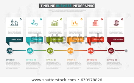 Infografika idővonal jelentés sablon vektor ikonok Stock fotó © orson